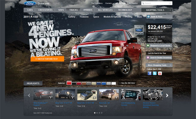 Ford Kicks Off F-150 Online Push