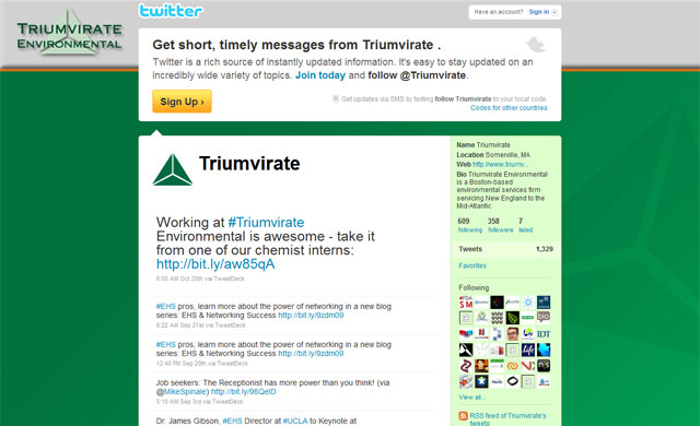 Triumvirate Environmental Social Media Blog